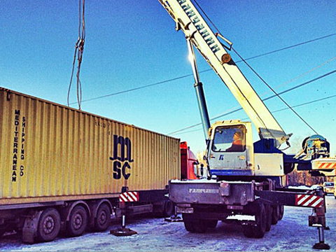 Погрузка и выгрузка контейнеров в Миассе
