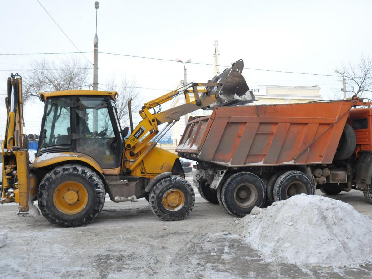 Уборка и вывоз снега с территории